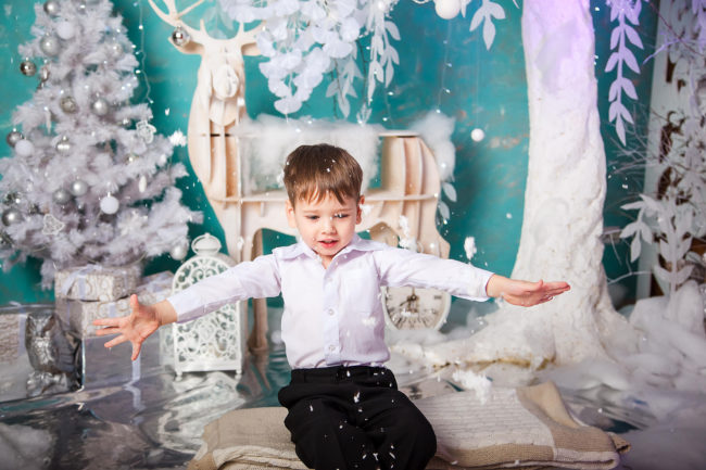 детская новогодняя фотосессия
