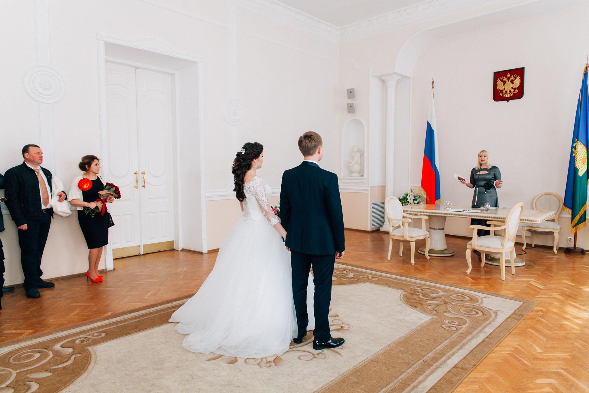 Торжественная регистрация брака в ЗАГСе Тамбова