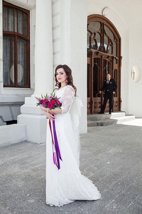 невеста в свадебном платье