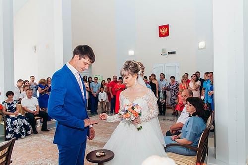 фотосессия свадьбы в ЗАГСе