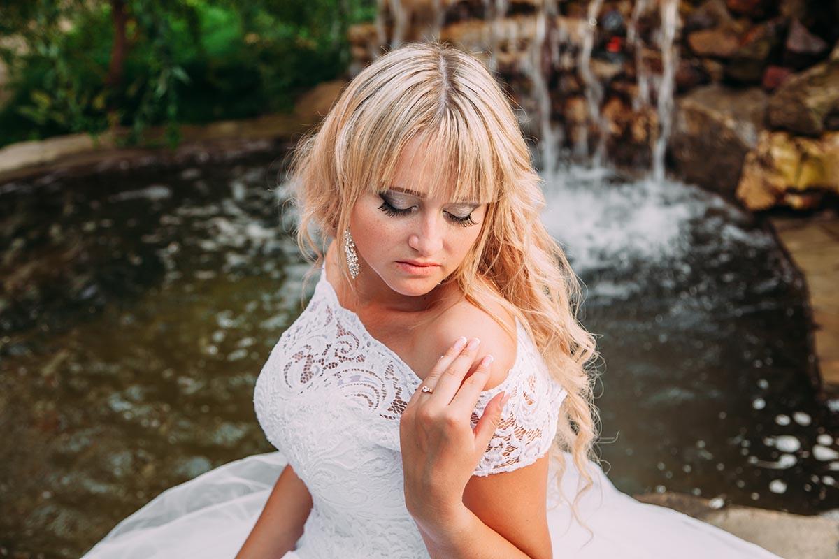 свадебное фото невесты