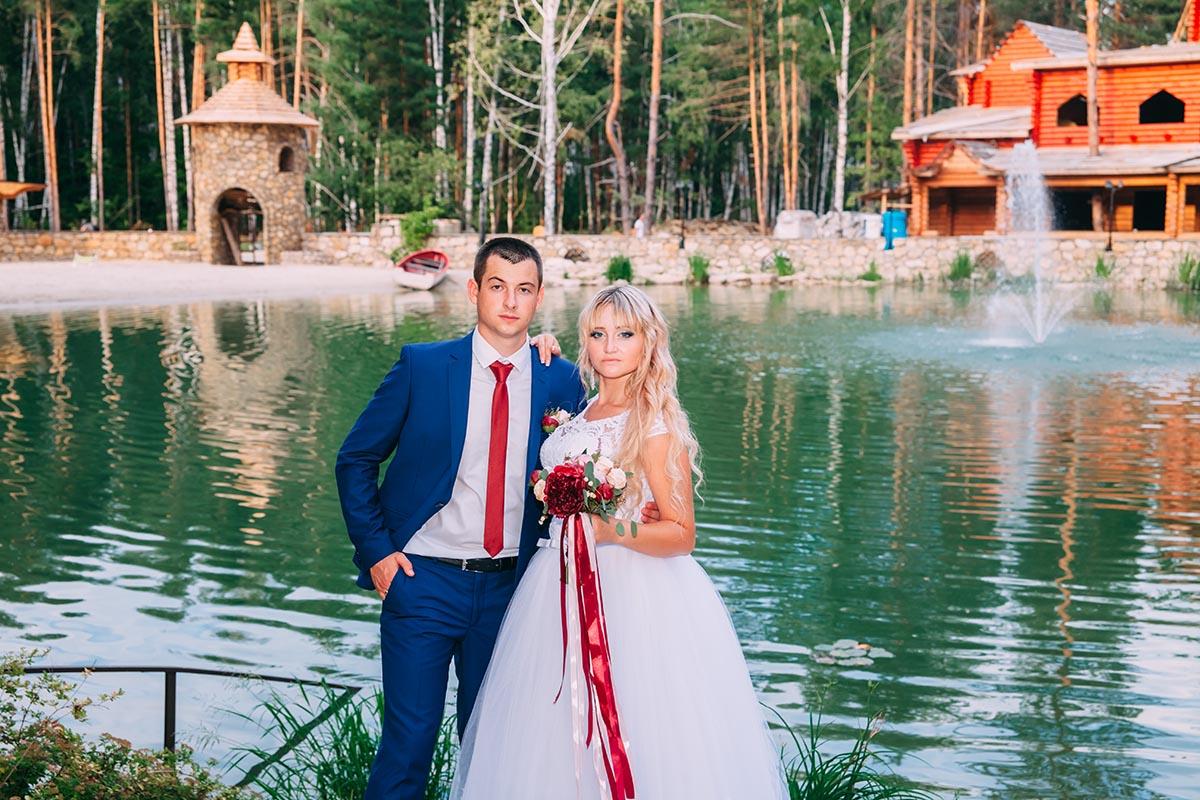 фотосъемка свадьбы у озера