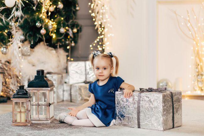 Зимняя Новогодняя фотосессия детская