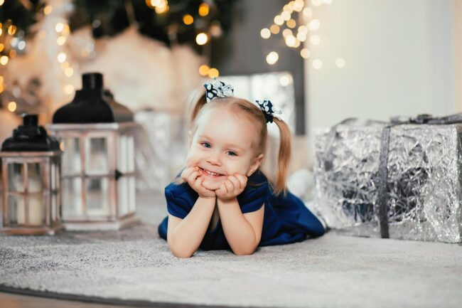 Детская фотосессия фото в студии Новогодняя