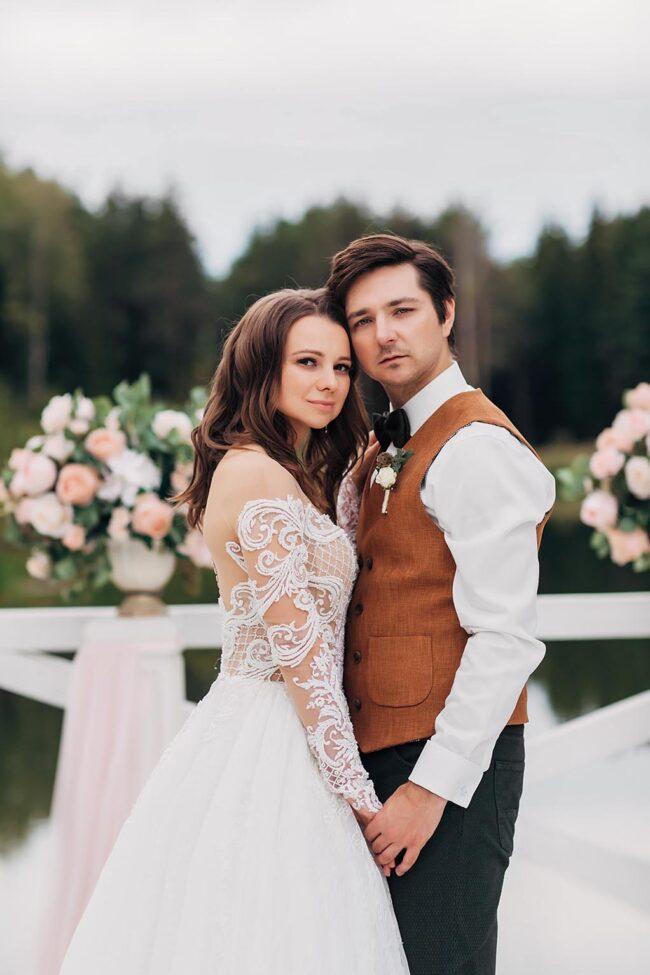Романтическая фотосессия свадьбы в Москве
