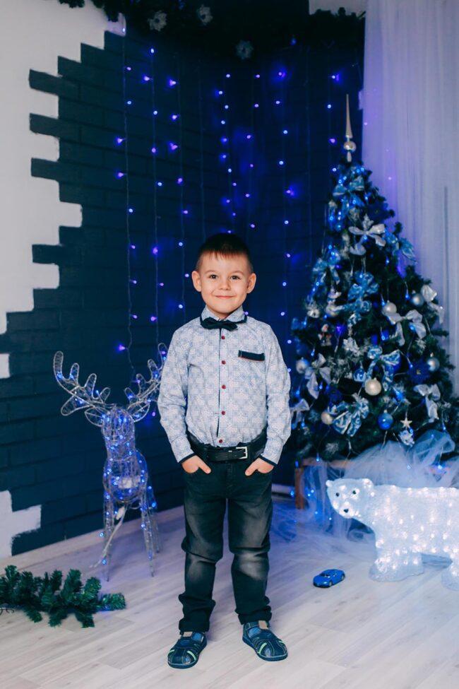Новогодняя фотосессия с малышом фото