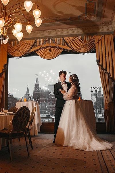 фотосессия свадьбы в отеле Националь