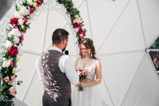 свадебная фотосессия молодожен