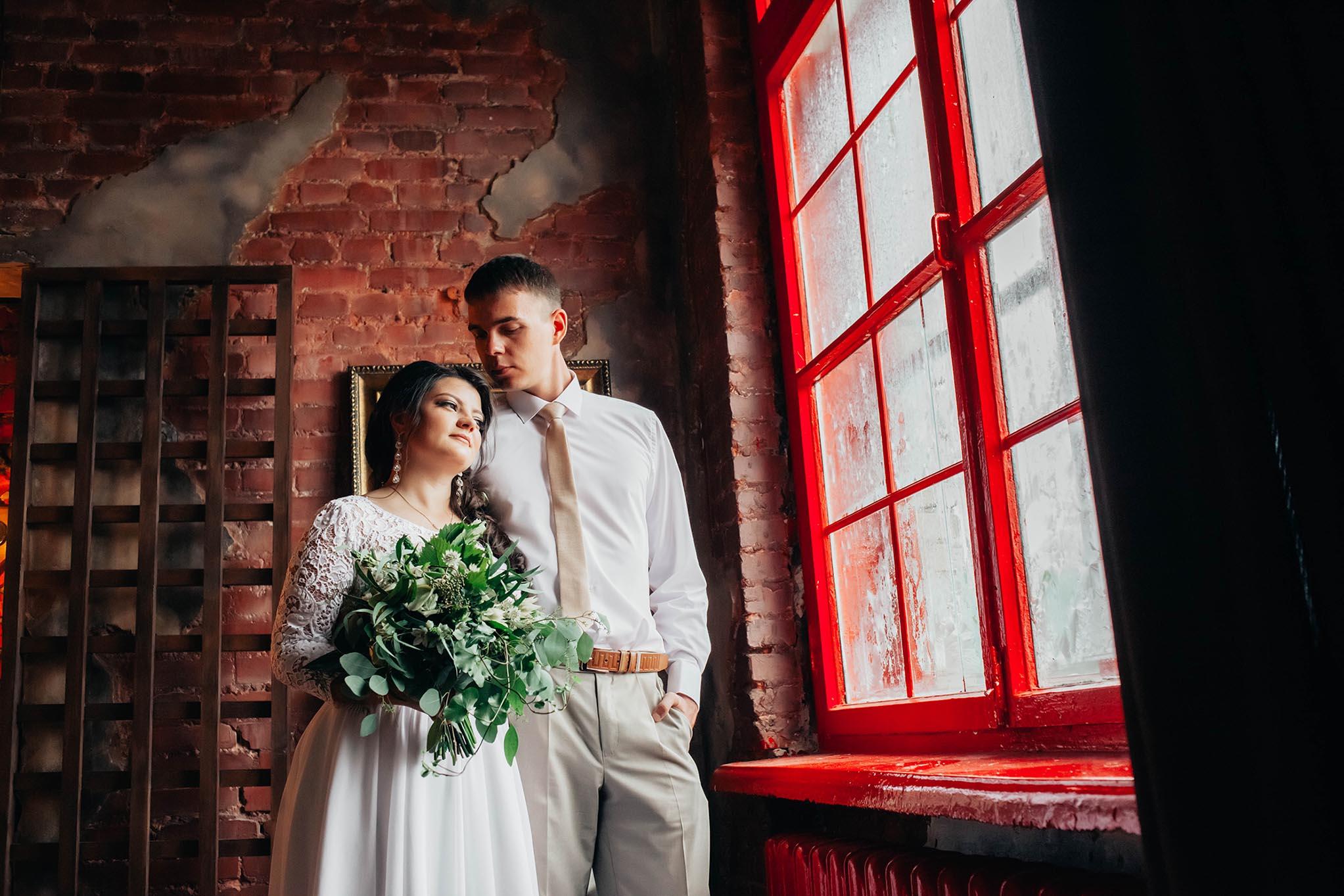 фотосъемка свадьбы в студии