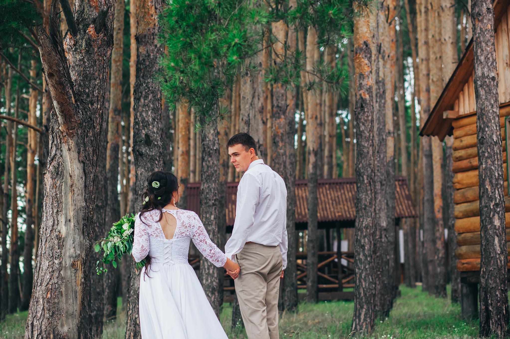 фотосессия свадьбы на природе