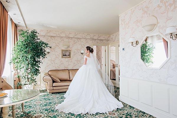 утро невесты в отеле | фотосессия