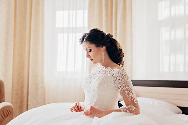 Фотосессия утра невесты в отеле