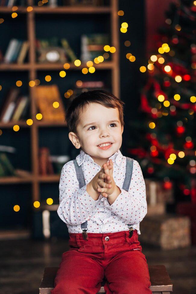 Фотосессия малышей на новый год