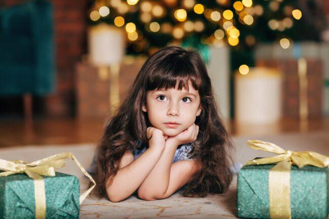 Новогодняя детская студийная фотосессия