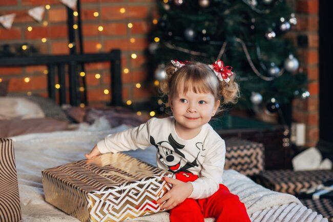 Красивые новогодние фото детей