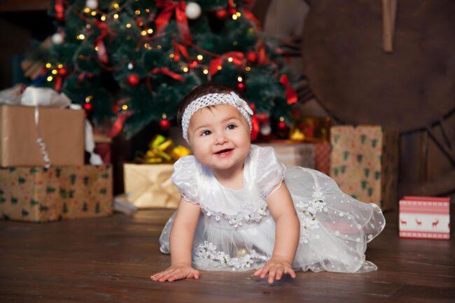 Новый год дети елка