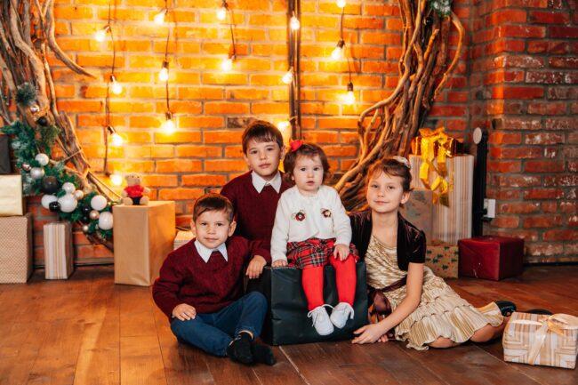 Детская Новогодняя фотосессия фото