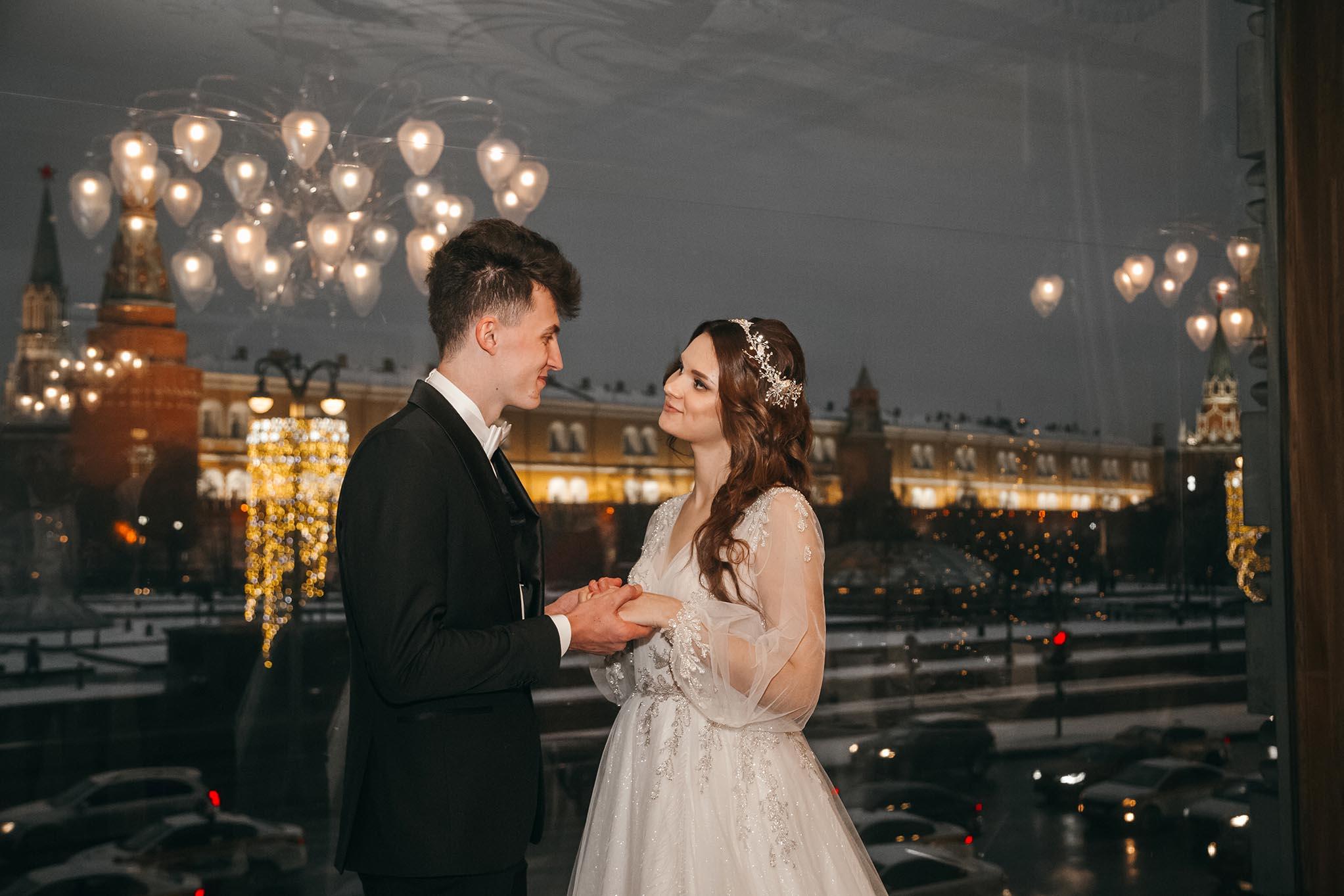 отель Националь зал Московский свадебная фотосессия