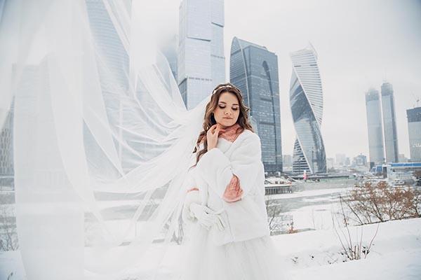 фотосъемка свадьбы  Москва Сити